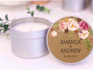 kraft floral soy candle by mahina