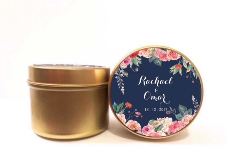 navy peony gold soy candle by mahina