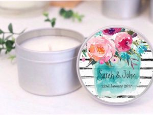 watercolour floral soy candle by mahina
