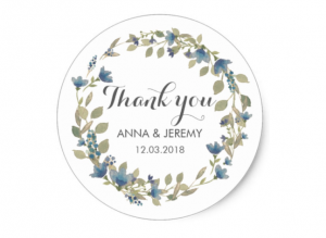 blue and green floral wreath sticker by Mahina
