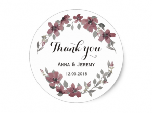 burgundy floral sticker by mahina