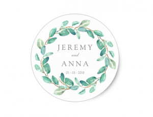 green wreath sticker by mahina