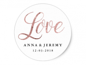 rose gold love sticker mahina