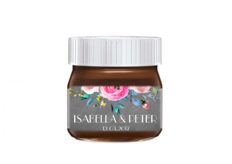 nutella chalkboard floral