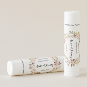 Floral Wreath Personalised Lip Balm by Mahina