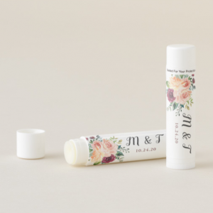floral monogram lip gloss