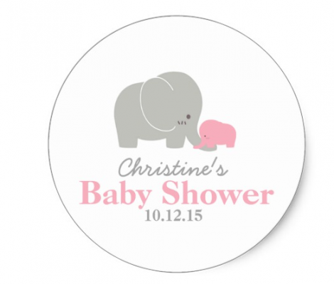 pink elephant sticker by mahina